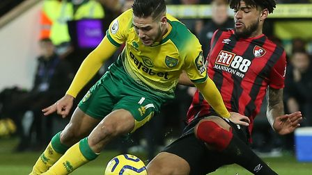 Norwich City ace Emi Buendia faces a fitness battle for the Premier League games ahead after being r