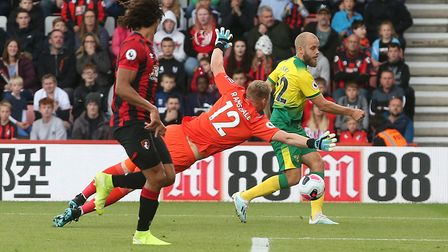 England U21 goalkeeper Aaron Ramsdale has proved an important player for Bournemouth this season Pic