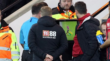 Norwich City defender Ben Godfrey was red carded after referee Paul Tierney upgraded his original ye