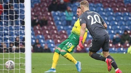 Burnley keeper Joe Hart denied Lukas Rupp but handed Josip Drmic an easy goal as Norwich went 2-0 up