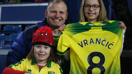 Mario Vrancic gave his shirt to some grateful Canaries fans following the FA Cup win at Burnley Pict