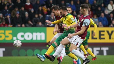 Josip Drmic was Norwich City's FA Cup match-winner in a 2-1 fourth round victory at Burnley Picture: