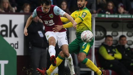 Lukas Rupp impressed again as Norwich City won at Burnley in the FA Cup fourth round Pictures: Paul