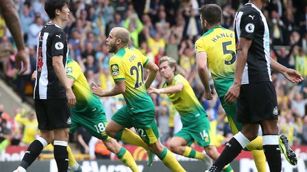 Teemu Pukki's hat-trick fired Norwich to a 3-1 win over Newcastle at Carrow Road in August Picture: