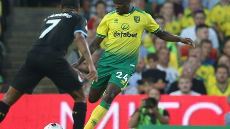 Ibrahim Amadou covered in central defence during Norwich City's famous 3-2 home win over Manchester