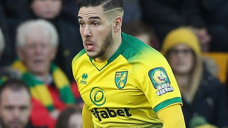 Emi Buendia is fit after a quad problem ruled him out of Norwich City's last two games Picture: Paul
