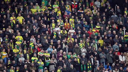 Norwich City fans travelled in their numbers to St James' Park. Picture: Paul Chesterton/Focus Image