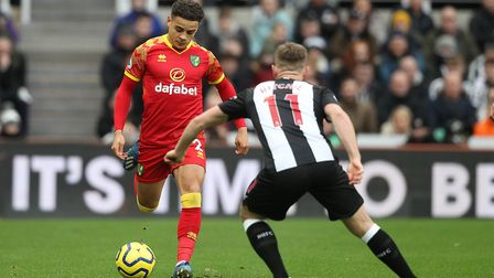 Max Aarons in action during Norwich City's 0-0 draw at Newcastle. Picture: Paul Chesterton/Focus Ima