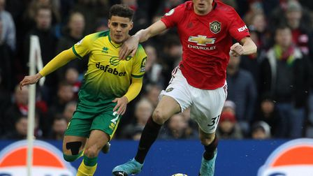 Norwich City starlet Max Aarons has stepped up to the big time this season in the Premier League Pic