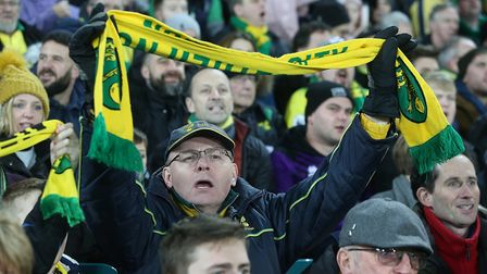 Norwich City supporters - still cheering on their team Picture: Paul Chesterton/Focus Images Ltd
