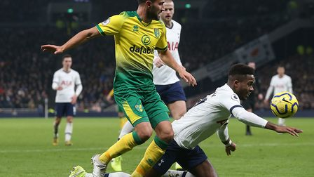 Lukas Rupp made his full debut during Norwich City's 2-1 loss at Tottenham Picture: Paul Chesterton/
