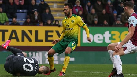 New signing Lukas Rupp was unlucky not to be on the score-sheet for the Canaries at Turf Moor Pictur