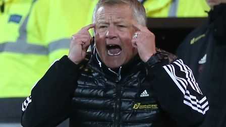 Sheffield United boss Chris Wilder during his team's win at Carrow Road in December Picture: Paul Ch