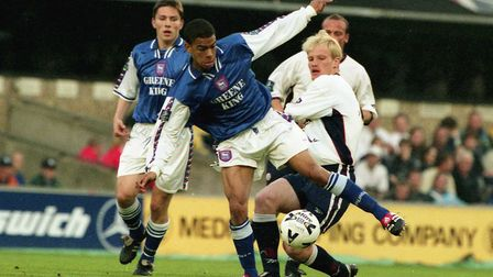 Kieron Dyer during his playing days at Ipswich Picture: Archant library