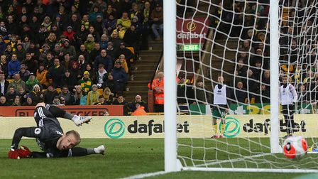 Kasper Schmeichel was left with no chance as Jamal Lewis curled in Norwich City's winner against Lei