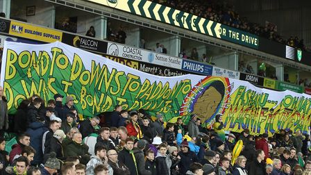 Visual displays have become a massive part of the pre-match atmosphere at Carrow Road. Picture: Paul