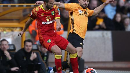 Lukas Rupp started his fifth consevutive game as the Canaries lost 3-0 at Wolves on Sunday Picture: