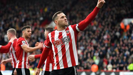 Billy Sharp celebrates after scoring the game's only goal. Picture: Anthony Devlin/PA Wire.