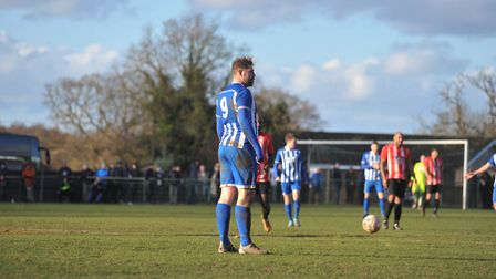 Grant Holt started but was unable to get himself on the scoresheet for Wroxham. Picture: Tony Thruss
