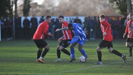 Jerry Dasalou was a second half substitute for the Yachtsmen. Picture: Tony Thrussell/Archant