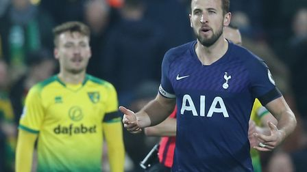 Injured England and Tottenham striker Harry Kane is a big miss for the Canaries' FA Cup visit Pictur