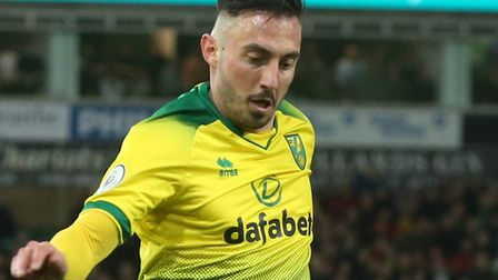 Josip Drmic makes just the second start of his Norwich City career this evening, during an FA Cup fi