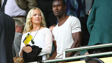 Tettey and his wife, Marit, on the day Tettey signed for City in 2012. Picture: Paul Chesterton/Focu