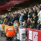 The travelling Norwich fans during the match at Bramall Lane Picture: Paul Chesterton/Focus Images L
