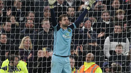 Calls to arms - Tim Krul during the shoot-out Picture: Paul Chesterton/Focus Images Ltd