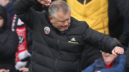 Chris Wilder celebrates after Sheffield United's 1-0 Premier League win over Norwich City Picture: P