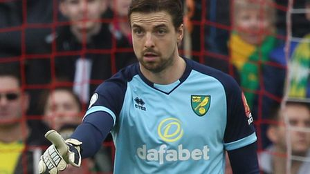 Tim Krul issues his instructions during Norwich City's battle at Bramall Lane Picture: Paul Chestert