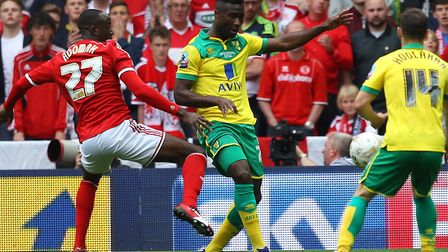 Alex Tettey has signed a one year contract extension at Norwich City Picture: Paul Chesterton/Focus