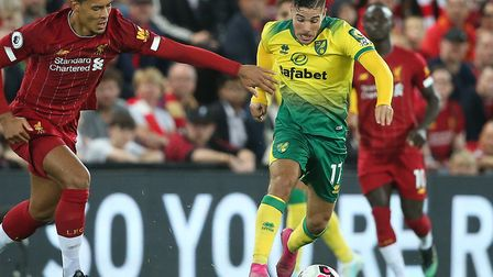 Emi Buendia remains on the bench for Norwich City for today's clash with European champions Liverpoo