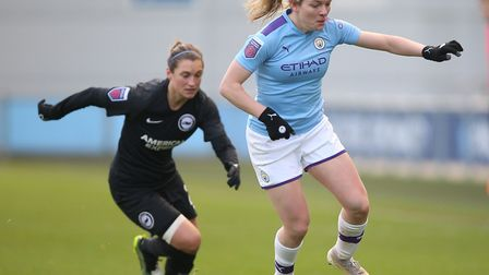 Lauren Hemp on the ball against Brighton Picture: PA