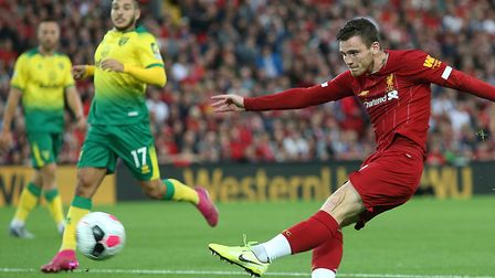 Andy Robertson felt Norwich City were blown away in the first half of the Premier League meeting at