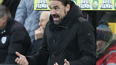 Daniel Farke wants one big push on and off the pitch over the Premier League run in Picture: Paul Ch