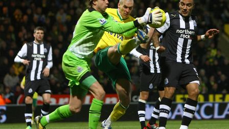 Tim Krul in action for Newcastle during a 4-2 defeat to Norwich in the Premier League in December 20