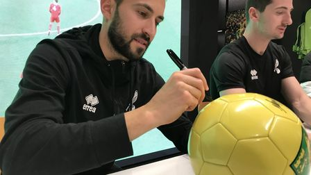 German star Lukas Rupp got a chance to meet supporters at an autograph session at the Norwich City F