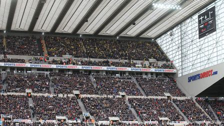 There were 1,700 fans high up in the stands at St James' Park for City's last away game, a 0-0 draw