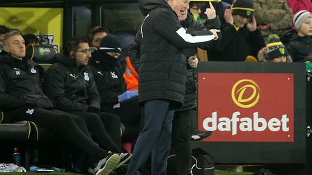 Dean Kiely, left, was back at Carrow Road in January as Crystal Palace held Norwich to a 1-1 draw Pi