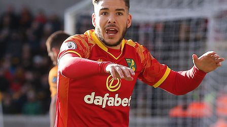 Norwich City's attacking midfielder, Emi Buendia, cut a frustrated figure once again after coming of