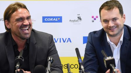 Daniel Farke and Stuart Webber have formed a strong team at Norwich City. Picture DENISE BRADLEY