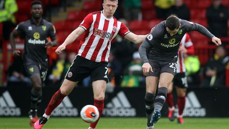 McLean in action during City's Premier League match against Sheffield United. Picture: Paul Chestert