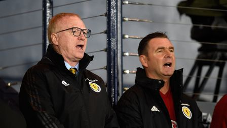 Former Norwich City boss Peter Grant, pictured alongside ex-Scotland manager Alex McLeish. Picture: