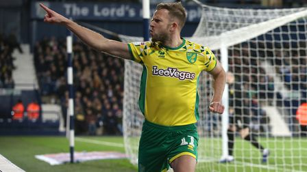 Jordan Rhodes celebrates scoring in the 1-1 draw at West Bromwich Albion. Picture: Paul Chesterton/F