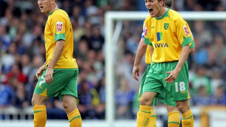 Arturo Lupoli celebrates after scoring his first goal in the 2-2 draw at Cardiff in August, 2008 Pic