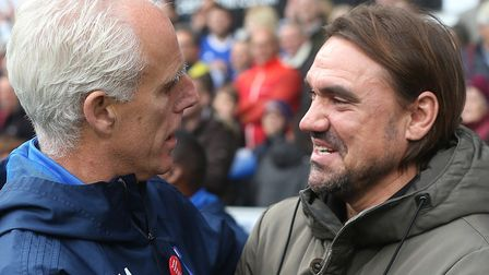 Norwich head coach Daniel Farke enjoyed a winning derby debut at Portman Road against Mick McCarthy'