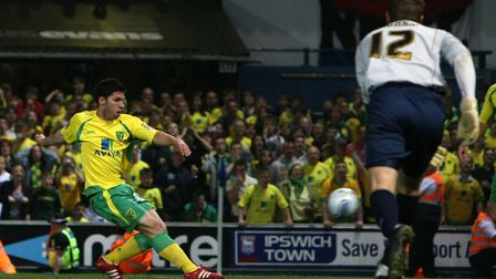 Dani Pacheco cemented his cult hero status with a goal in Norwich City's 5-1 win over Ipswich Town i