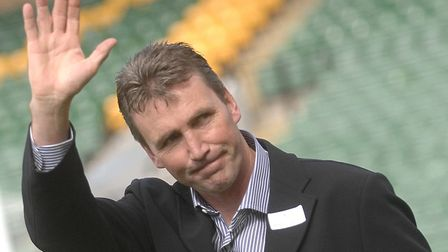 Andy Linighan on a return to Carrow Road for a Legends match PHOTO: ANTONY