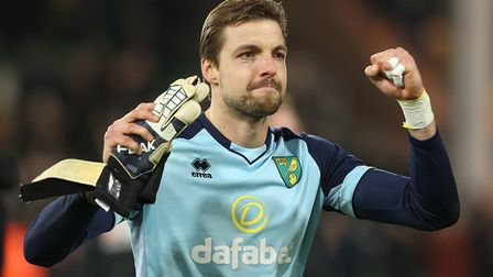 Tim Krul - a shining example of Norwich City togetherness Picture: Paul Chesterton/Focus Images Ltd